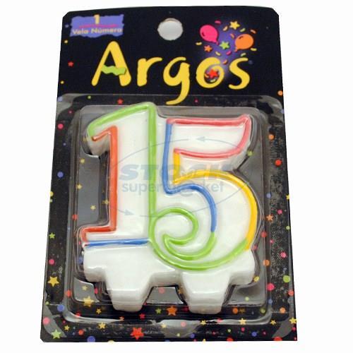 Foto VELAS ARGOS 15 AÑOS PRIMARIA X 1 de