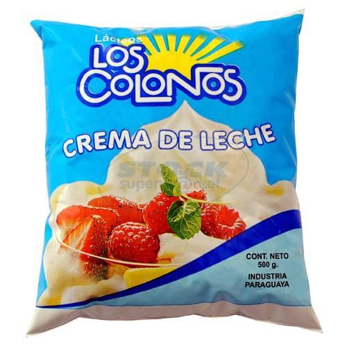 Foto CREMA DE LECHE 500GR LOS COLONOS SACHET de