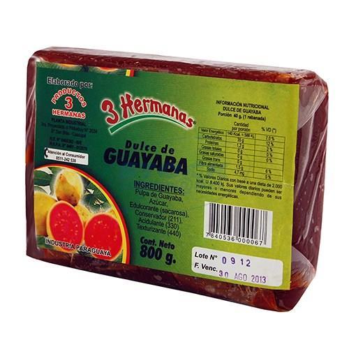 Foto DULCE GUAYABA 3 HERMANAS PAN 800GR de