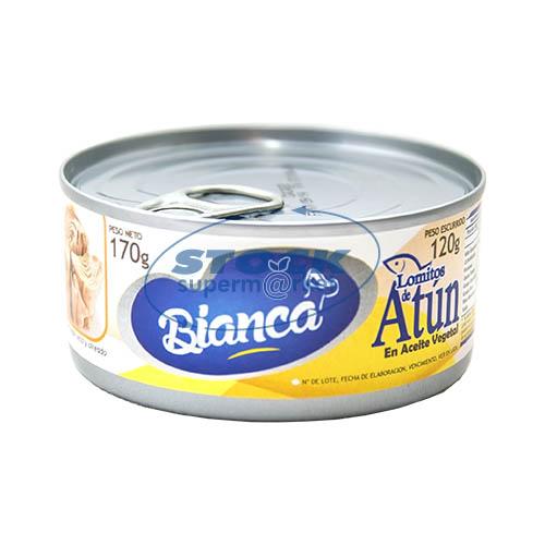 LOMITO D/ATUN E/ACEITE VEGETAL 170GR BIANCA LATA