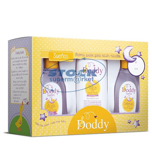 Foto PACK COLONIA 125ML/ACEITE 125ML/ TALCO 120GR SUEÑOS DODDY de