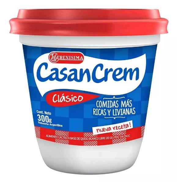 QUESO CREMA CLASICO 300GR CASANCREM POT