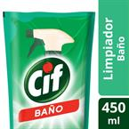 Foto LIMPIADOR LIQUIDO POWER CREAM BAÑO 450ML CIF DOYPACK de