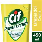 Foto LIMPIADOR LIQ POWER CREAM COCINA 450ML CIF REPUESTO DOYPACK de