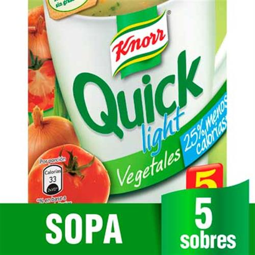 Foto SOPA QUICK VEGETALES LIGHT 24X5 KNORR CJA de