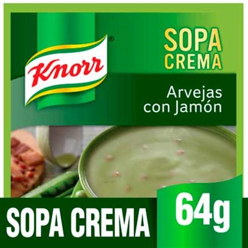 Foto SOPA CREMA C/ARVEJAS C/JAMON 64GR KNORR PLA de