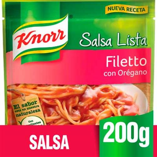 Foto SALSA FILETTO C/OREGANO 200G KNORR PLA de