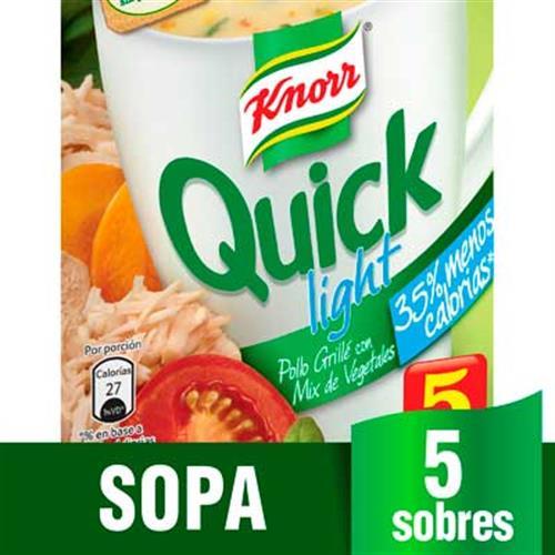 Foto SOPA QUICK D/POLLO LIGHT C/VEG 24X45GR KNORR CJA de
