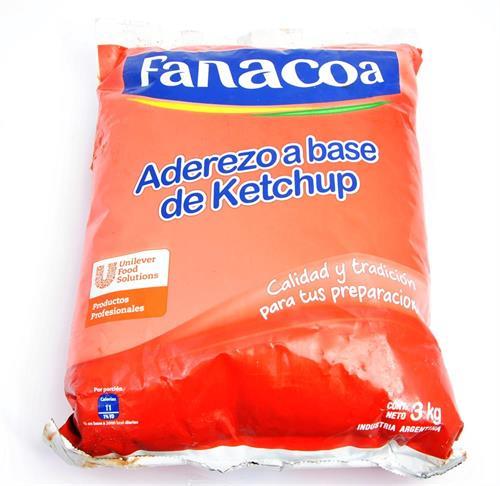 Foto KETCHUP 3KG FANACOA BSA de