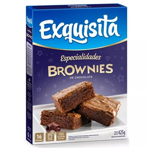 Foto BROWNIES CHOCOLATE 425GR EXQUISITA CJA de