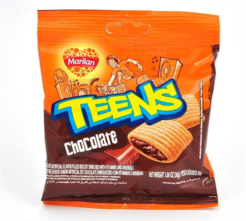 Foto GALLETITA CHOCOLATE TEENS 30GR MARILAN PAQ de