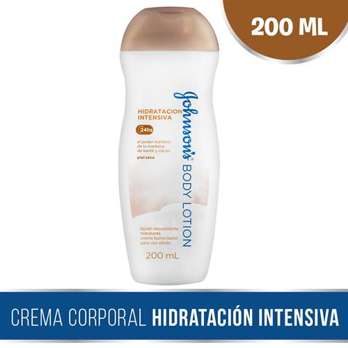 Foto CREMA CORPORAL NUTRICION INTENSA C/MANTECA Y CACAO 200ML JOHNSONS PLAS de