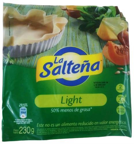 Foto TAPA P/PASCUALINA LIGHT 230GR LA SALTEÑA PAQ de