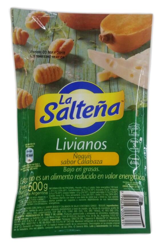 RAVIOLES D/CALBAZA LIGHT 500GR LA SALTEÑA PLA