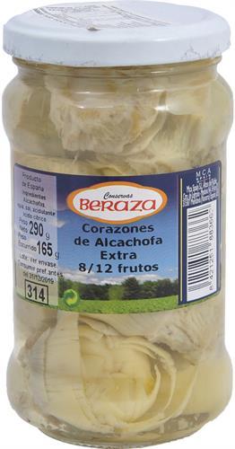 Foto CORAZONES DE ALCACHOFA EXTRA 290GR BERAZA FCO de