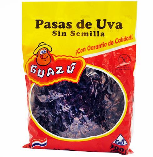 Foto PASAS DE UVA GUAZU PAQUETE 200 GR de