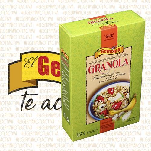 Foto GRANOLA TRAD C/FRUTAS SECAS 300GR EL GERMANO CAJA de