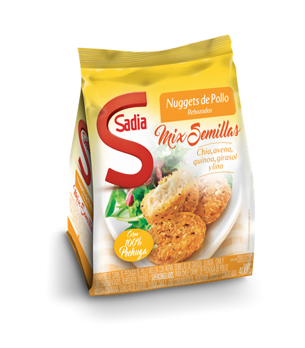 Foto NUGGETS DE POLLO MIX DE SEMILLAS DE 400GR SADIA BSA de