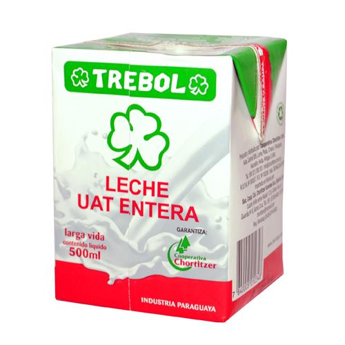 Foto LECHE ENTERA 500ML TREBOL TETRA de