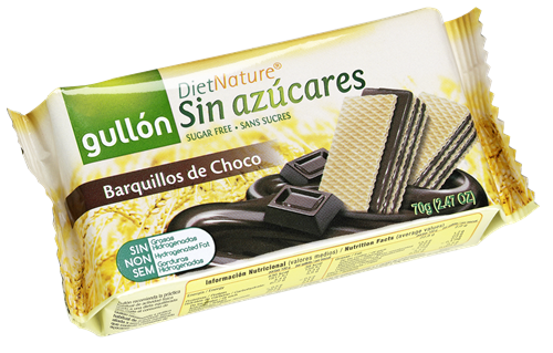 Foto GALLETITAS WAFER 12X70GR D/CHOCOLATE DIET NATURE GULLON BSA de