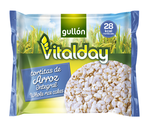 Foto GALLETA ARROZ INTEGRAL VITALDAY 28GR GULLON PLA de