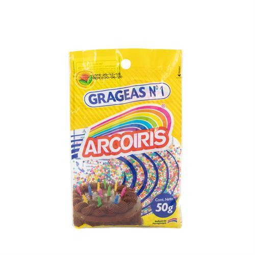 Foto GRAGEAS ARCO IRIS PAQUETE 50 GR GR de