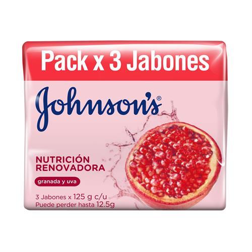 Foto JABON TOC NUTR RENOV JOHNSONS 3UN 125GR PACK de