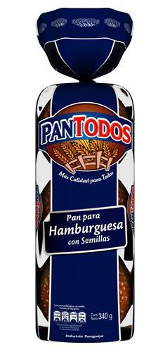 Foto PAN DE HAMBURGUESA PANTODOS PAQUETE 6 UN X 340 GR de