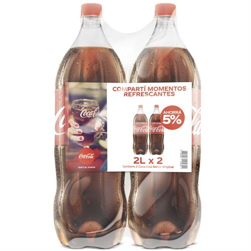 Foto GASEOSA COLA 2LT DESCARTABLE 2UN COCA COLA PACK de