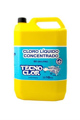 """Foto CLORO """"TECNOCLOR""""  LIQ. SIN/ENV. 10 LTS de"""