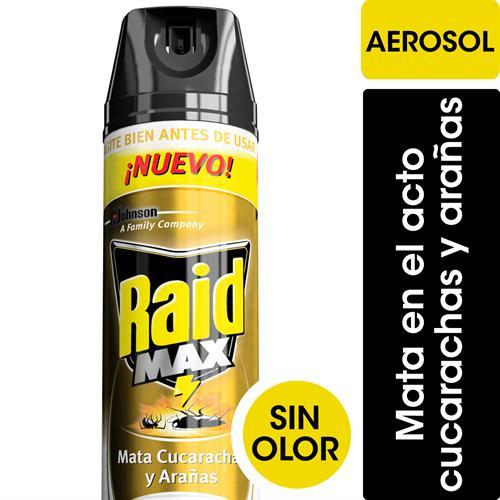 Foto INSECTICIDA MAX AEROSOL S/OLOR 360ML RAID de