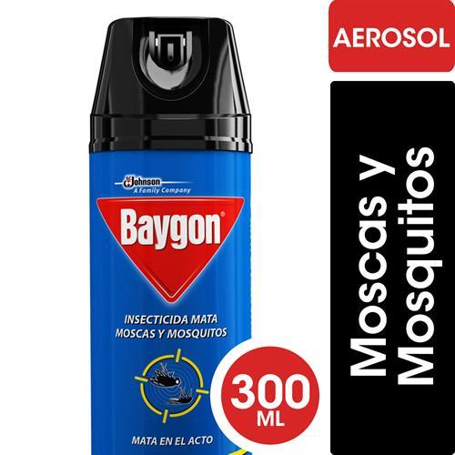 Foto INSECTICIDA MATA MOSCAS/MOSQUITOS AZUL 300ML BAYGON AER de
