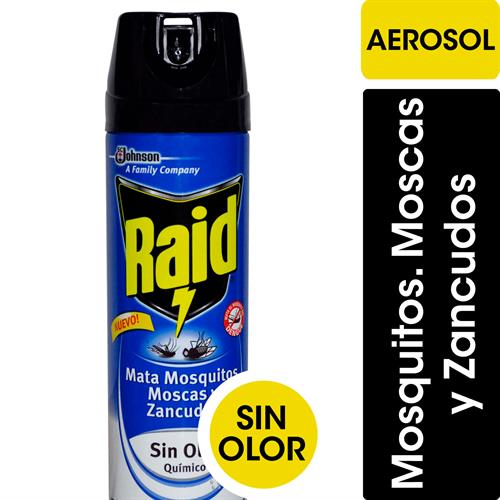Foto INSECTICIDA S/OLOR MATA MOSCA/MOSQUITO Y ZANCUDOS 360CM RAID AEROSOL de
