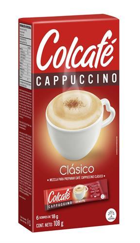 Foto CAPPUCCINO COLCAFE CLASICO CAJA 6 X 18GR de