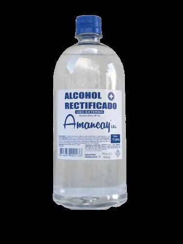 Foto ALCOHOL RECTIFICADO AMANCAY BOTELLA 1LT de