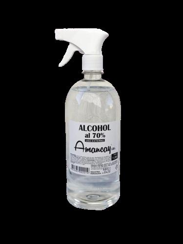 Foto ALCOHOL AL 70 % CON PULVERIZADOR AMANCAY 1LT PLAST de