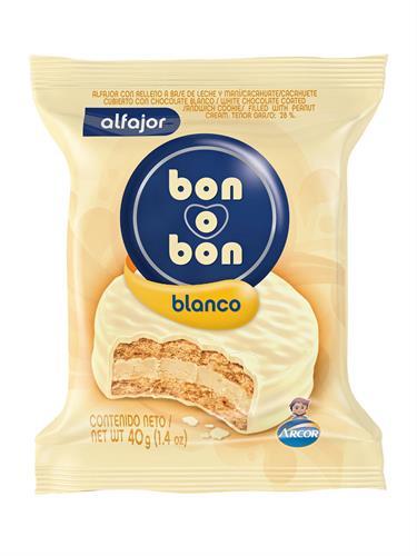 Foto ALFAJOR BON O BON BLANCO 40GR de