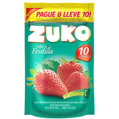 Foto JUGO E/POLVO FRUTILLA 100GR ZUKO 10LT PAQ de