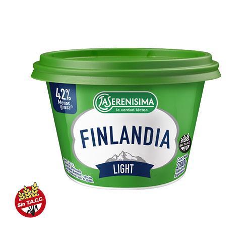 Foto QUESO PROCESADO UNTABLE LIGHT 200GR FINLANDIA POT de