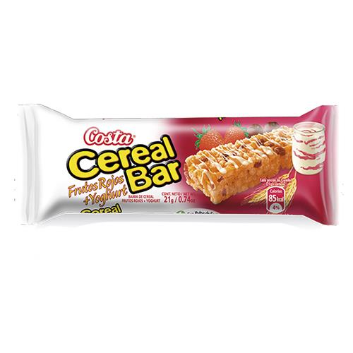 Foto CEREALBAR FRUTOS ROJOS YOGURT 21GR COSTA CJA de