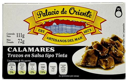 Foto CALAMAR E/TINTA 115GR PALACIO DE ORIENTE LATA de