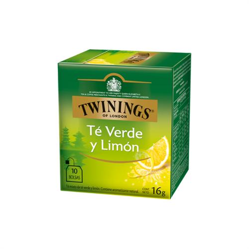 Foto TWININGS TE VERDE Y LIMON 16 GR 10 UNIDADES de