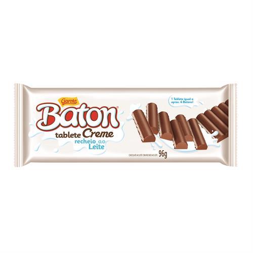 Foto CHOCOLATE TABLETA BATON CREMA RELLENO LECHE 96GR PLAST de