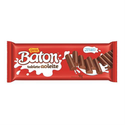 Foto GAROTO BATON TABLETA DE CHOCOLATE CON LECHE 96 GR de