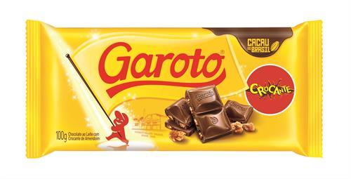 Foto CHOCOLATE C/LECHE CROCANTE 90GR GAROTO TAB de