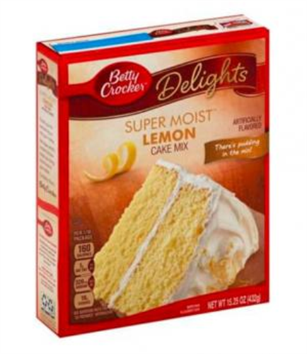Foto MEZCLA SUPERMOIST CAKE MX LEMON 432 GR BETTY CROCKER CJA de