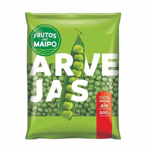 Foto ARVEJAS 500GR FRUTOS DEL MAIPO PAQ de