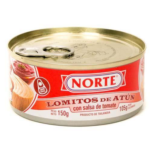 Foto ATUN EN SALSA DE TOMATE 150GR NORTE LATA de