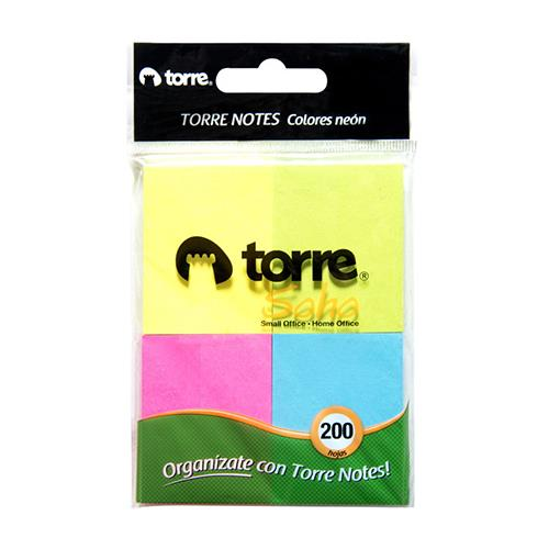 Foto BLOCK NOTES COLORES NEON 200 HJS TORRE BLI de