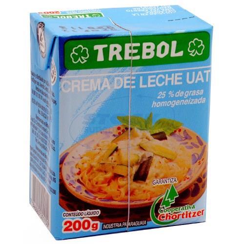 Foto CREMA DE LECHE TREBOL TETRA BRIK 200 de